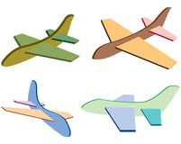 Plane. Toy plane from different aspects Royalty Free Stock Photo