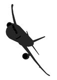 Plane. Airplane silhouette of a Boeing 737 - double image Stock Images