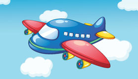 Plane. Illustration of a plane in blue sky Royalty Free Stock Photo
