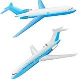 Plane. Illustration of a large passenger plane Royalty Free Stock Images