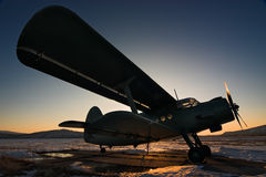 Plane. Antonov AN-2, Russia. Far-East royalty free stock images