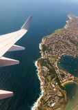 From the plane. View of the Australian shore from the plane Royalty Free Stock Photography