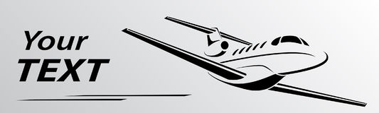 Plane abstract lines vector logo. Vector illustration. Plane logo abstract lines Vector illustration Royalty Free Stock Images