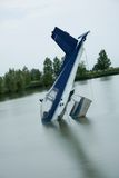 Plane accident. In a lake Stock Photos