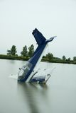 Plane accident. In a lake Royalty Free Stock Photos
