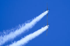 Plane acrobatics Stock Image