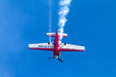 Plane Acrobatics Dive Flying Stock Image