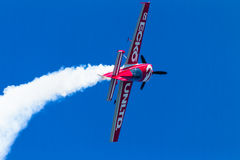 Plane Acrobatics Roll Flying Royalty Free Stock Photography