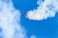Plane Acrobatics Stall Flying Royalty Free Stock Images