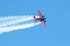 Plane in action Royalty Free Stock Photo