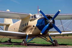 The plane, AN-2 agricultural aeroplane. Stock Image