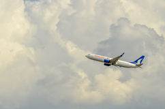 Plane in the air. Anadolu Jet Flight, Istanbul-Turkey Royalty Free Stock Image