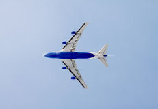 Plane in the air Royalty Free Stock Photography