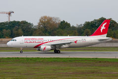 Plane from the airline Air Arabia Royalty Free Stock Image