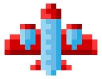 Plane Airplane Aeroplane Pixel Video Game Art Icon. Plane, airplane or aeroplane icon in a pixel 8 bit video game art style vector illustration