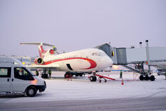 plane on airport Domodedovo Royalty Free Stock Images
