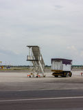 Plane at airport Royalty Free Stock Photos