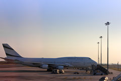 Plane at airport Stock Image