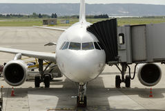 Plane at the airport Stock Photography
