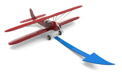 Plane and arrow Stock Photos