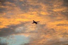 Plane Ascending at Dawn Royalty Free Stock Photos