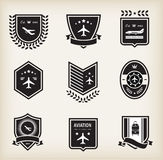 Plane aviation badges. Vector set of plane aviation badge and labels Stock Images