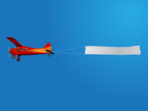 Plane with banner Stock Photography