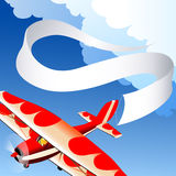 Plane with banner Stock Image