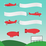 Plane Banners Royalty Free Stock Photography