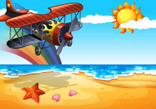 Plane and beach Stock Photography
