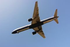 Plane from Below 2 Stock Images