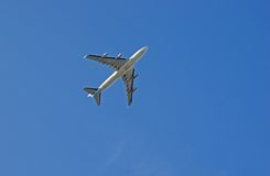 Plane from below Royalty Free Stock Image