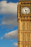 Plane and Big Ben. Royalty Free Stock Photo