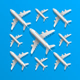 Plane in blue background Stock Photo