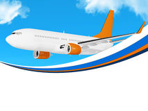 Plane on blue sky frame Stock Images