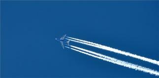 Plane on blue sky Royalty Free Stock Photo