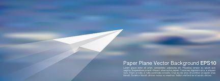 Plane blur clouds Stock Photography