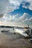 Plane Boarding Stock Photo