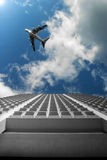 Plane and building Stock Image