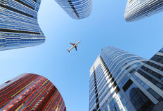 Plane And Building Royalty Free Stock Photography