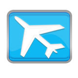 Plane button. Used for  travel website Stock Images