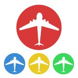 Plane button tourism design, stock vector illustration royalty free illustration