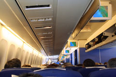 Plane cabin Stock Photo