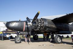 Plane in CAF WWII AIR SHOW Dallas Executive Airport royalty free stock photos