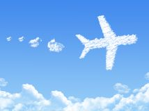 Plane on Cloud shaped Royalty Free Stock Image