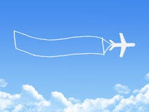 Plane on Cloud shaped ,dream concept Stock Images