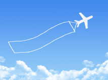 Plane on Cloud shaped ,dream concept Royalty Free Stock Photography