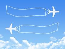Plane on Cloud shaped ,dream concept Stock Photos