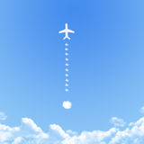 Plane on Cloud shaped ,dream concept Stock Photography