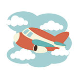Plane in the clouds Stock Images